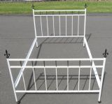 Painted Metal Rail Double Bed